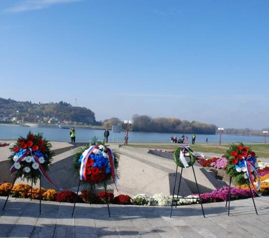Цвеће за погинуле борце Батинске битке