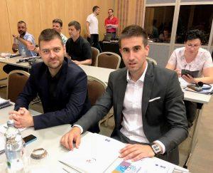 Antonio Ratković i Branislav Svorcan učesnici Konferencije ispred grada Sombora