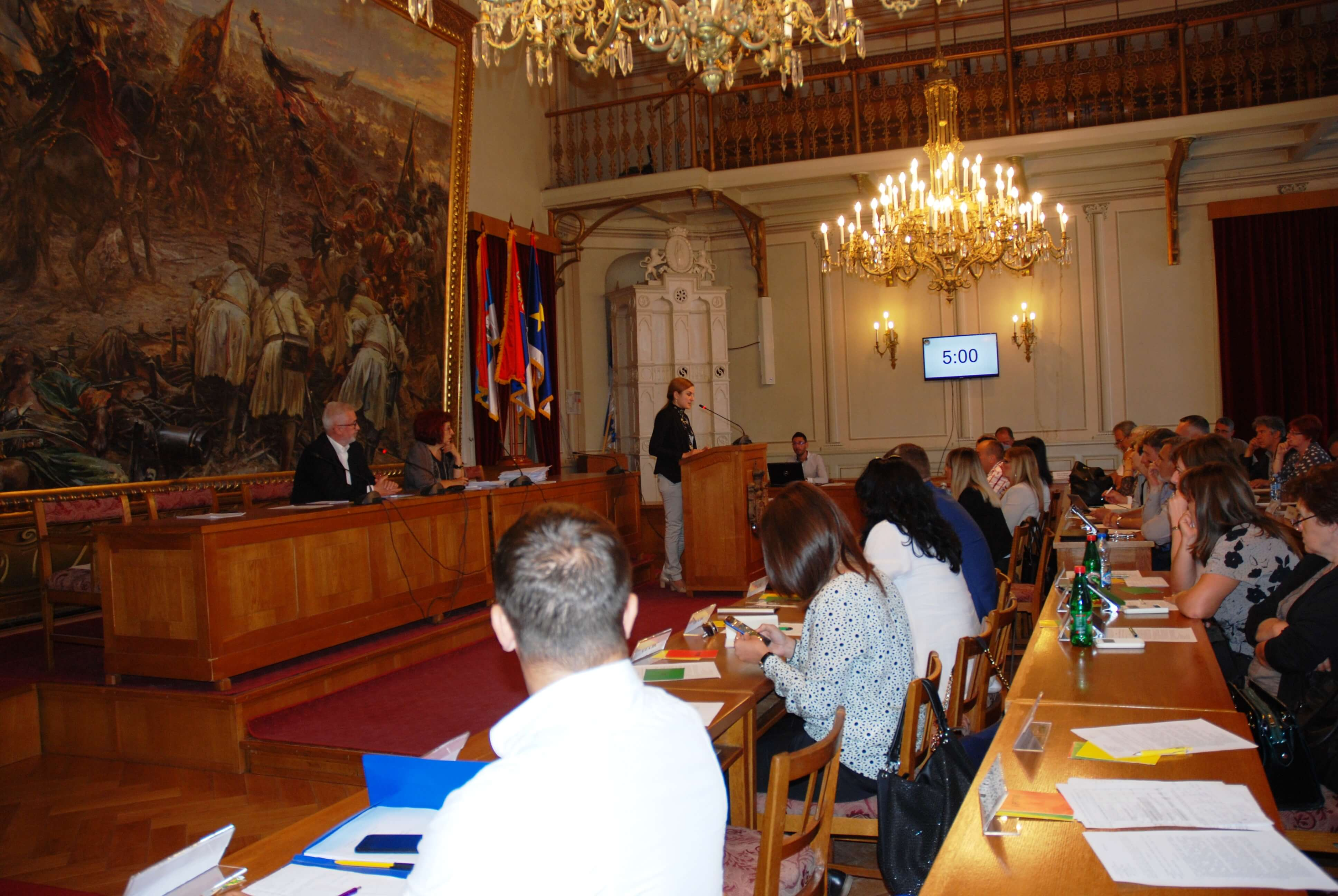 Градоначелница Сомбора Душанка Голубовић известила је одборнике о резултатима рада извршне власти Града