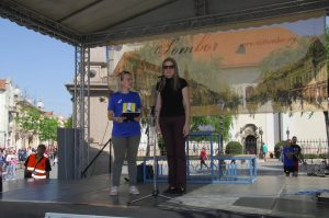 Учеснике полумаратона поздравила је градоначелница Сомбора Душанка Голубовић