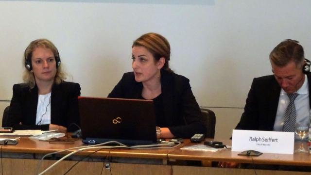 Градоначелница Сомбора Душанка Голубовић приликом представљања привредних и инвестиционих потенцијала Сомбора
