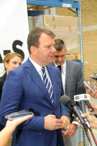 Председник Покрајинске Владе Игор Мировић у обраћању новинарима