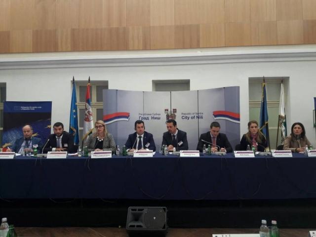 Учесници петог заседања Заједничког консултативног одбора региона ЕЗ у Нишу
