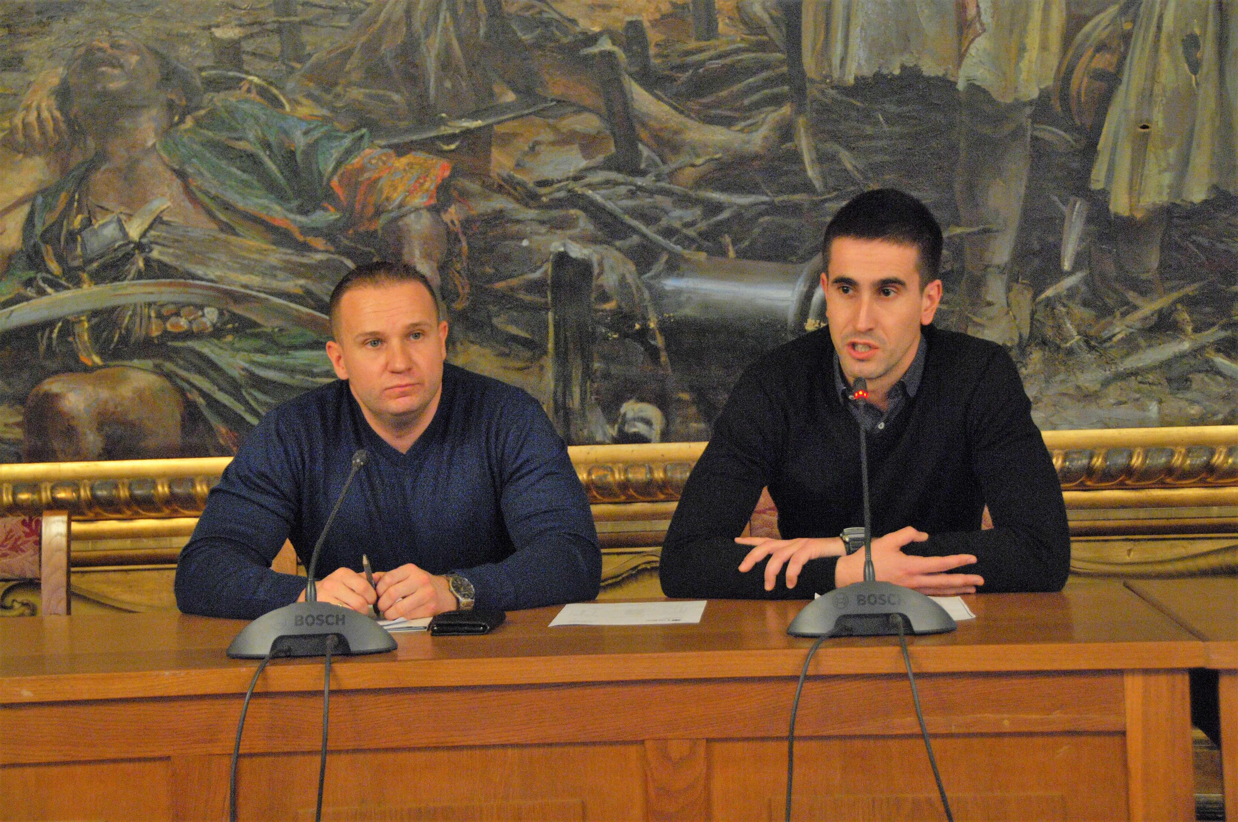 Zamenik gradonačelnice Antonio Ratković, Stručni saradnik za poslove vanrednih situacija i odbrane  Ivan Gligorić