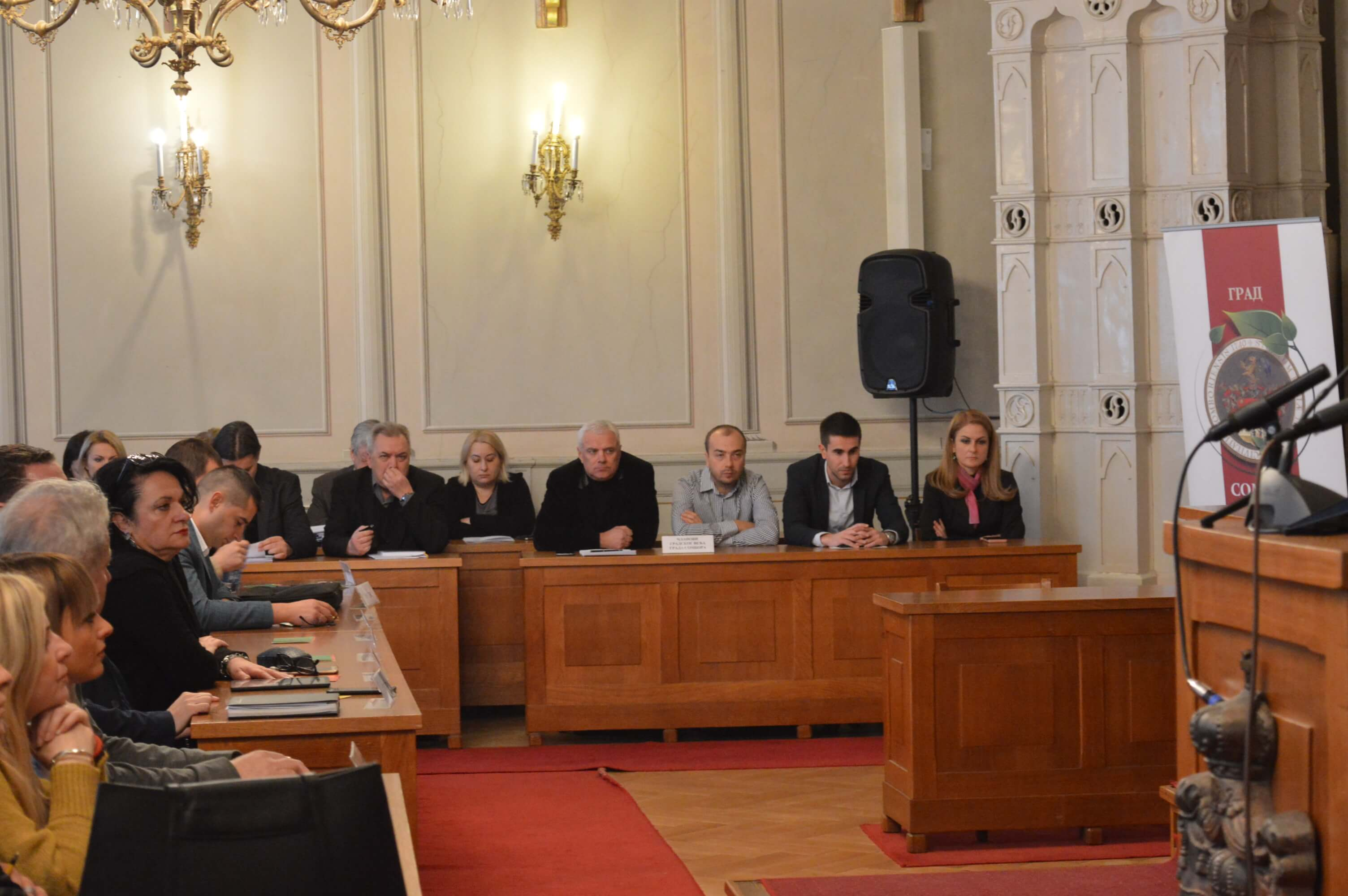 Градоначелница Сомбора Душанка Голубовић, заменик градоначелнице Антонио Ратковић и градски већници