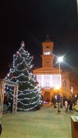 Новогодишња јелка на тргу Светог тројства