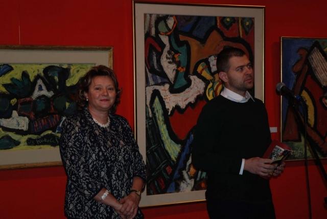 Изложбу отворили директорица галерије Милена Рацков Ковачић и помоћник градоначелнице за културу и информисање Бранислав Сворцан