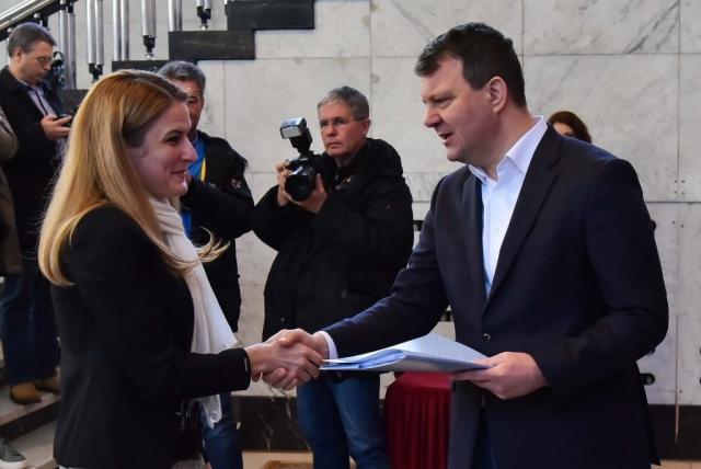 Градоначелница Сомбора Душанка Голубовић и председник Покрајинске владе Игор Мировић