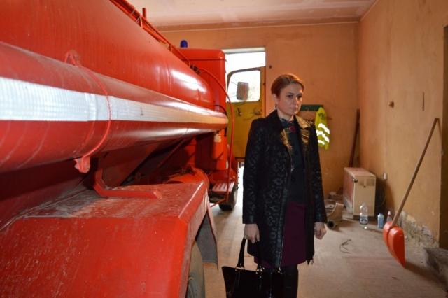 Душанка Голубовић градоначелница Сомбора приликом обиласка просторија ДВД Светозар Милетић