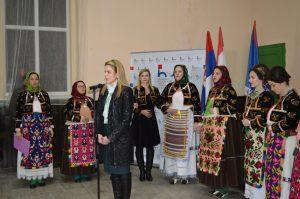 Градоначелница Сомбора Душанка Голубовић на обележавању дана хрватске националне заједнице у Бачком Моноштору