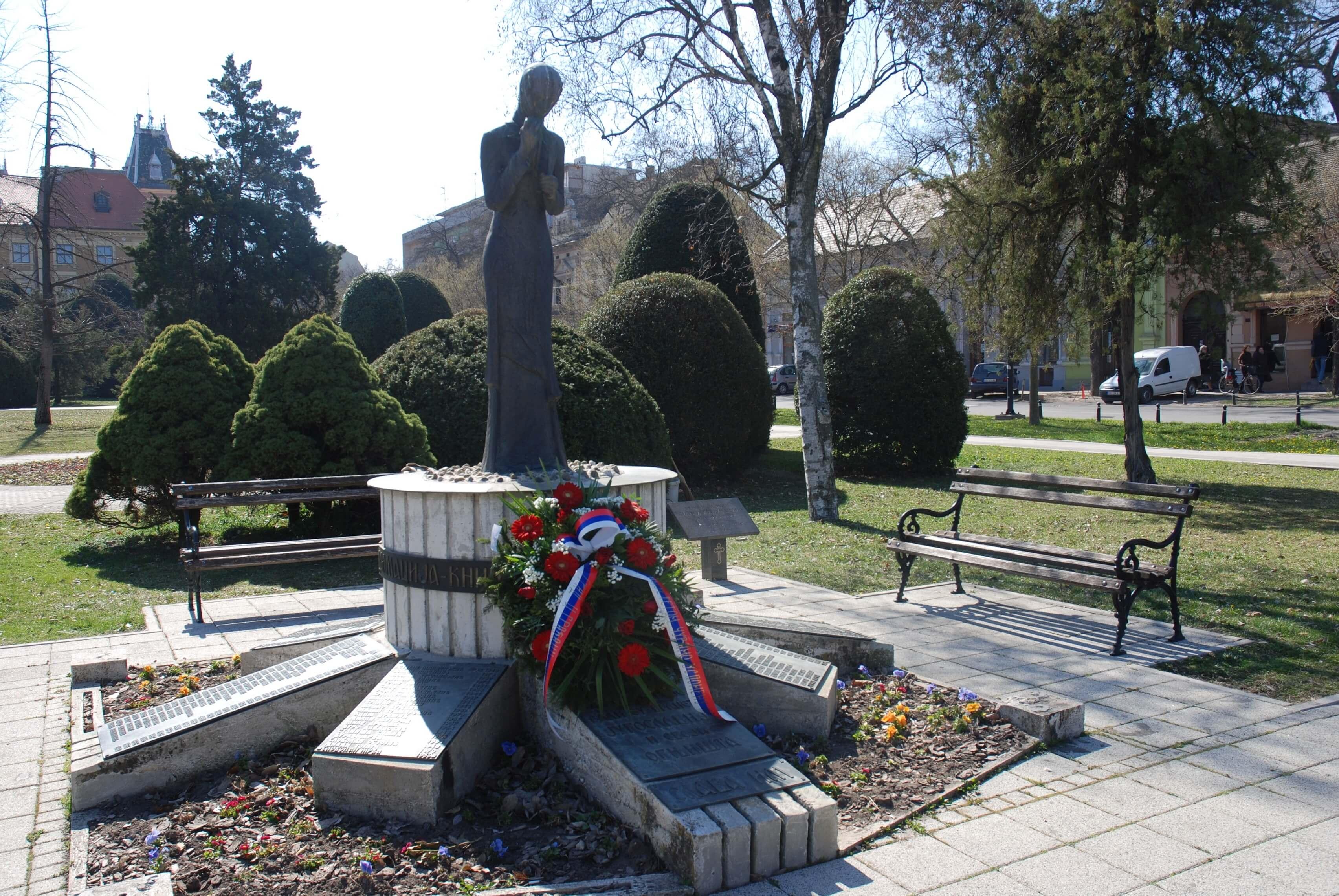 Споменик жртвама ратова 1990-1999. године у Парку хероја