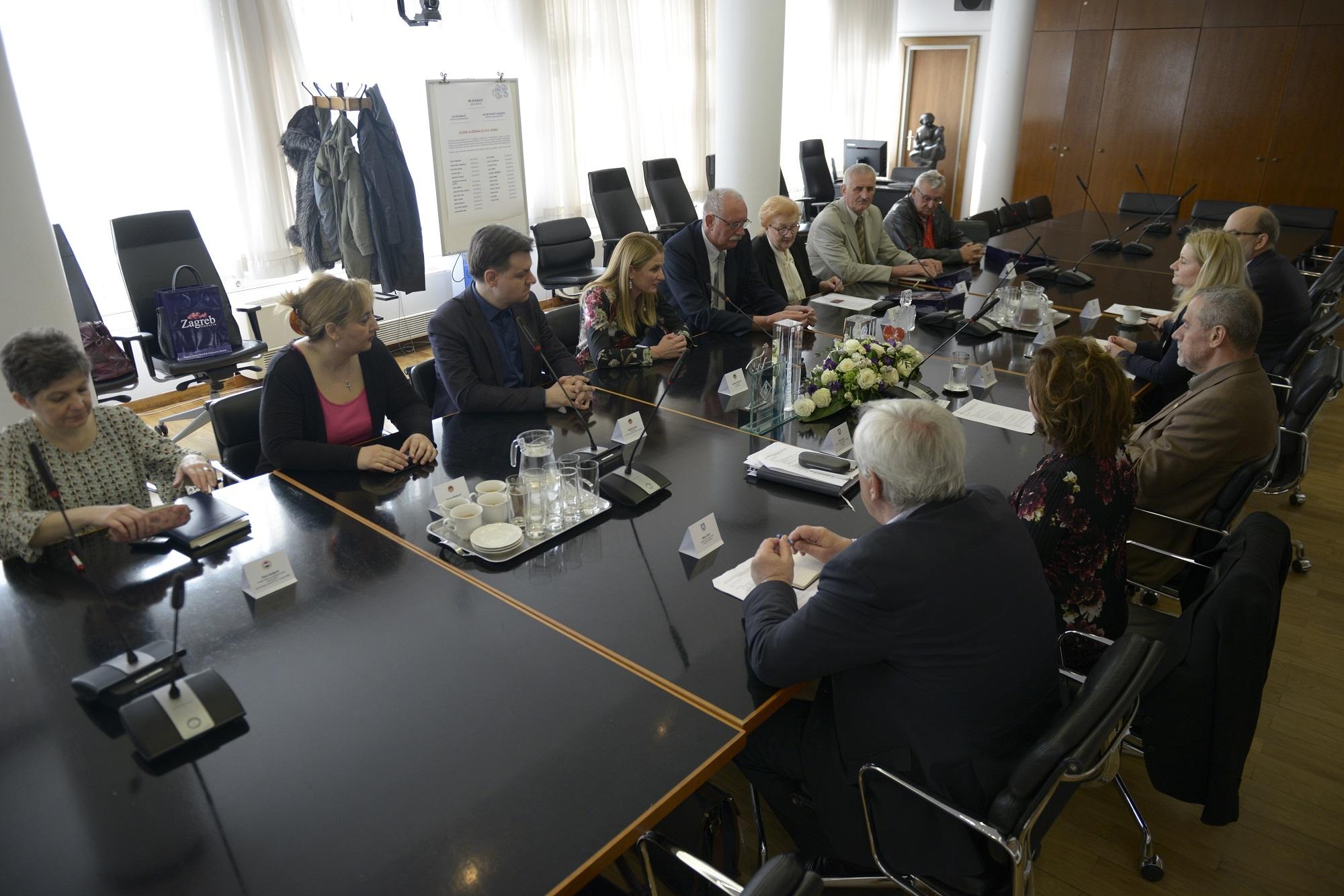 Prijem kod gradonačelnika Zagreba Milana Bandića