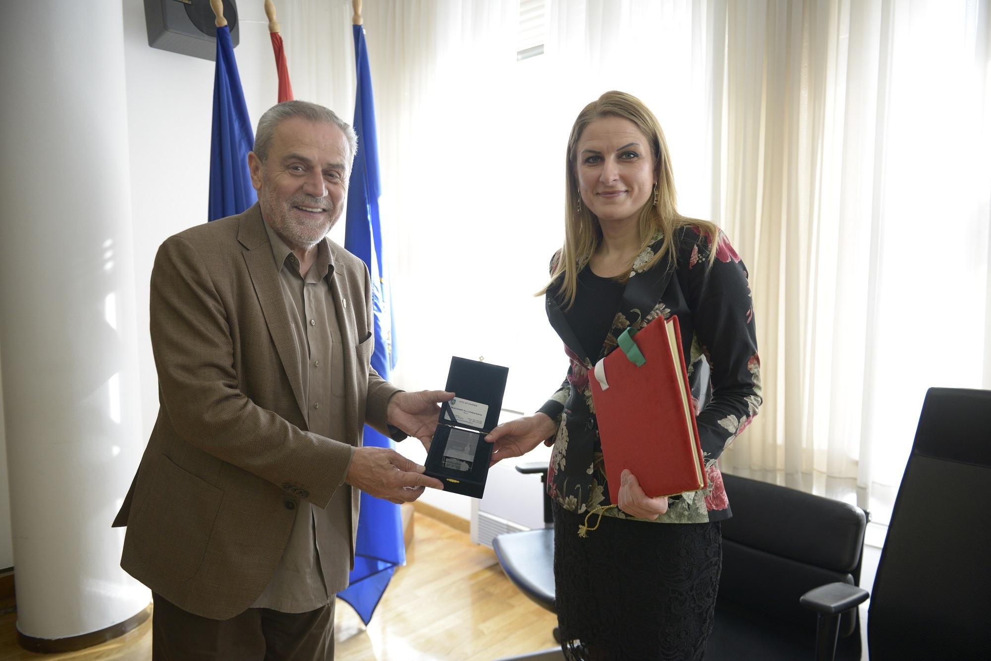 Градоначелница Сомбора Душанка Голубовић и градоначелник Загреба Милан Бандић