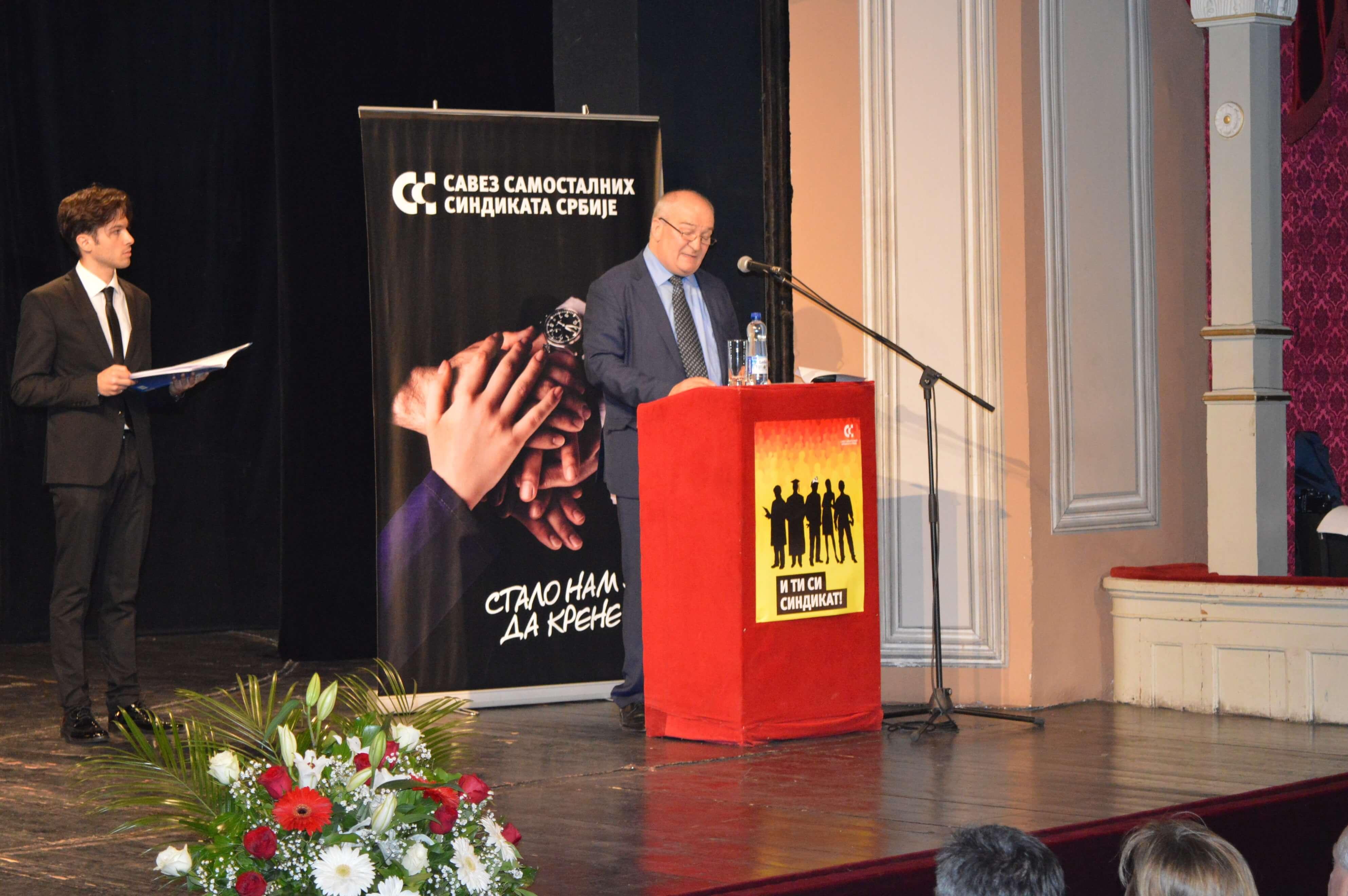 Председник Већа СССС Љубисав Орбовић