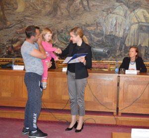 Градоначелница Сомбора, Душанка Голубовић и породица Жижа и њен најмлађи члан