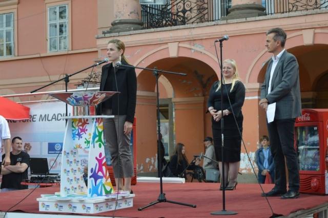 Градоначелница Сомбора Душанка Голубовић поздравила је присутне на отварању Спортских игара младих у Сомбору