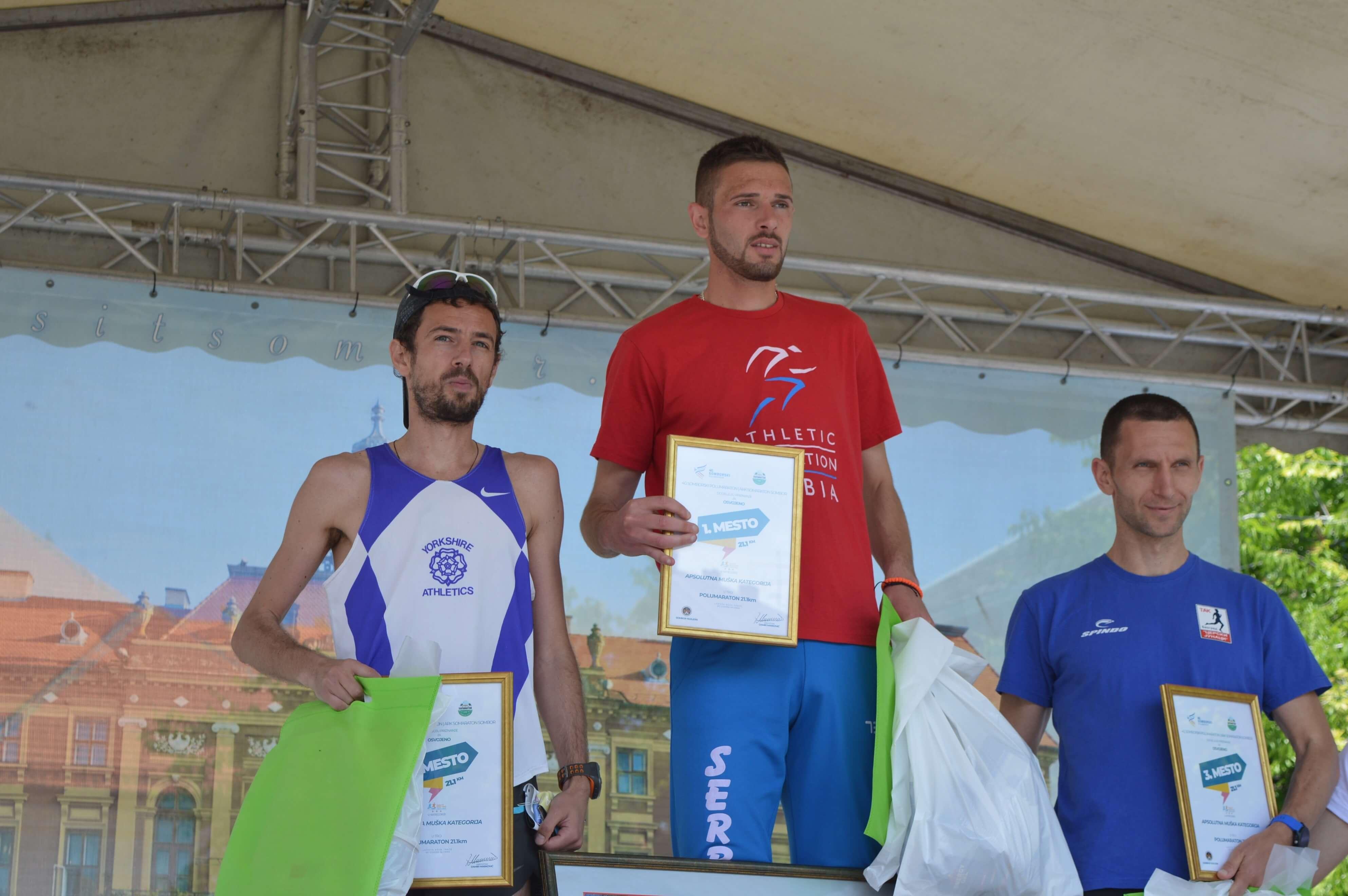 Велимир Бојовић (друго место), Милан Митровић (прво место) и Милош Дајевић (треће место)