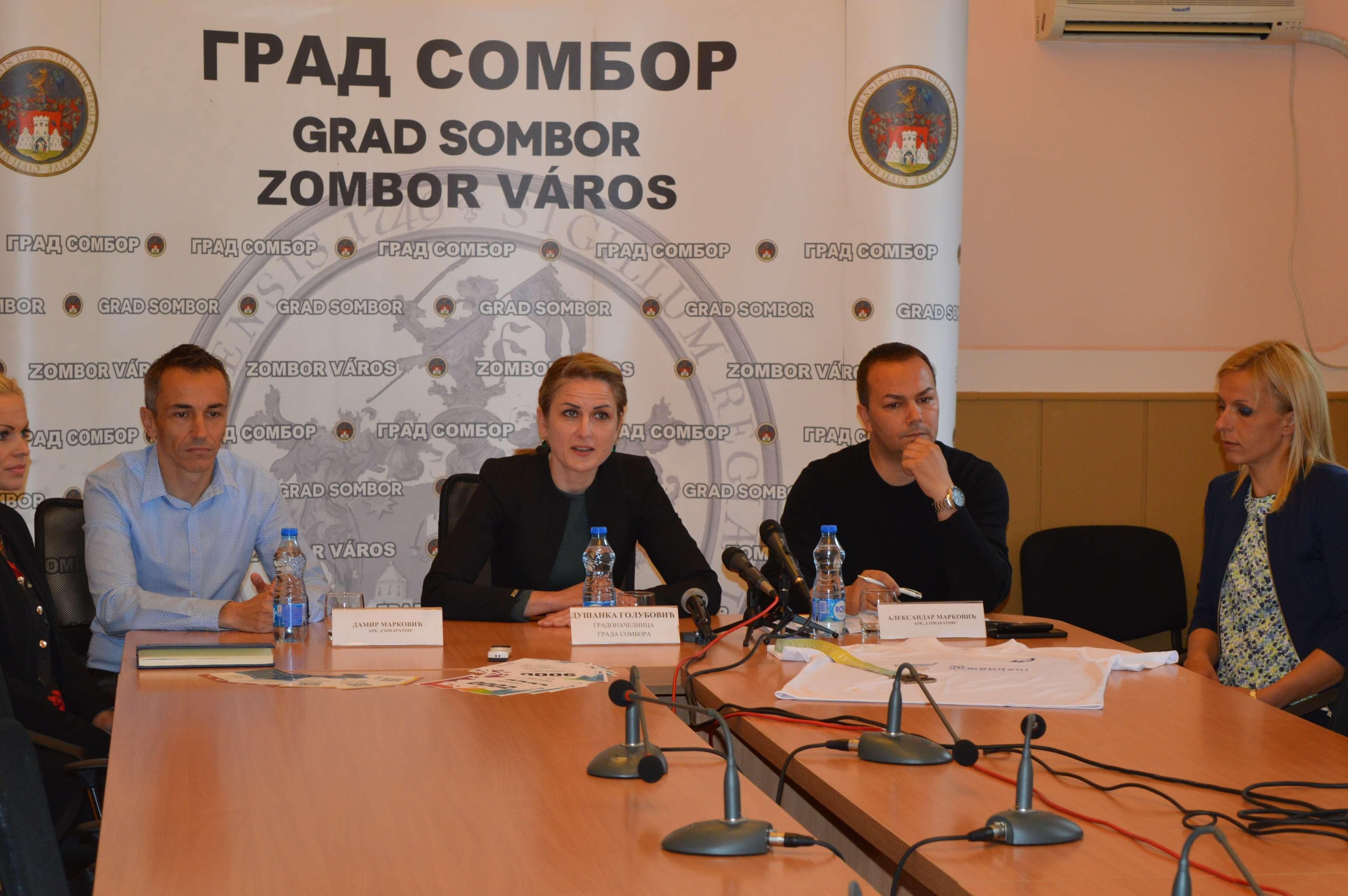 Градоначелница Душанка Голубовић позвала суграђане да пруже подршку учесницима 40. Сомборског полумаратона