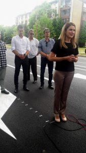 Gradonačelnica Sombora Dušanka Golubović sa saradnicima pustila u saobraćaj rekonstruisani deo Staparskog puta