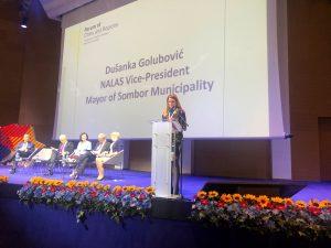 Градоначелница Сомбора и потпредседница НАЛАСа, Душанка Голубовић поздравила учеснике у свом уводном говору
