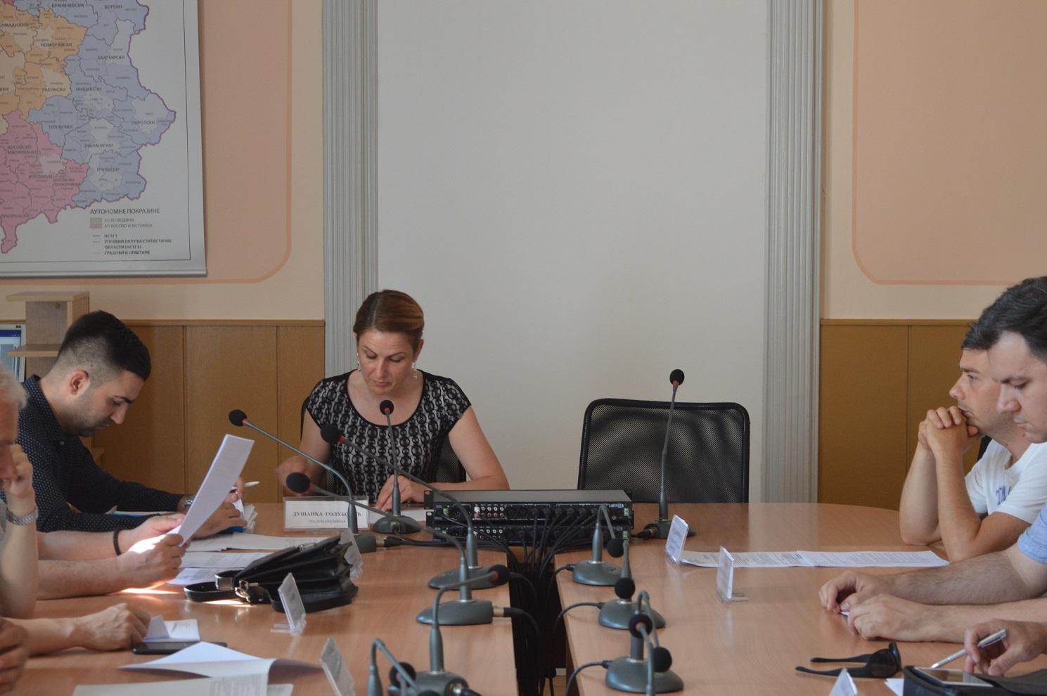 На 162. седници Градског већа председавала градоначелница града Сомбора Душанка Голубовић