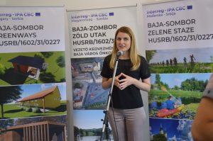 Na otvaranju Kajak centra Sombor prisutne je pozdravila gradonačelnica Dušanka Golubović