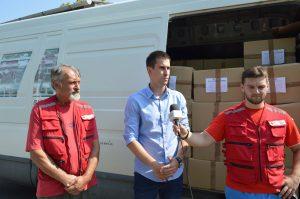 Подели друге транше прехрамбених пакета присуствовао Антонио Ратковић заменик градоначелнице