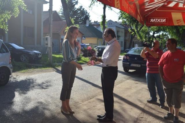Градоначелница Сомбора, Душанка Голубовић и заменик градоначелнице, Антонио Ратковић поздравили све присутне