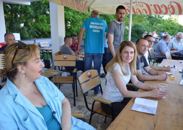 Градоначелница Душанка Голубовић и заменик градоначелнице Антонио Ратковић са сарадницима на главној трибини