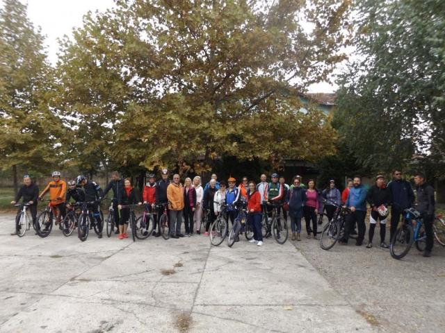 """Старт вожње до Бачког Моноштора у оквиру Међународног бициклистичког фестивала """"Европски Амазон"""""""