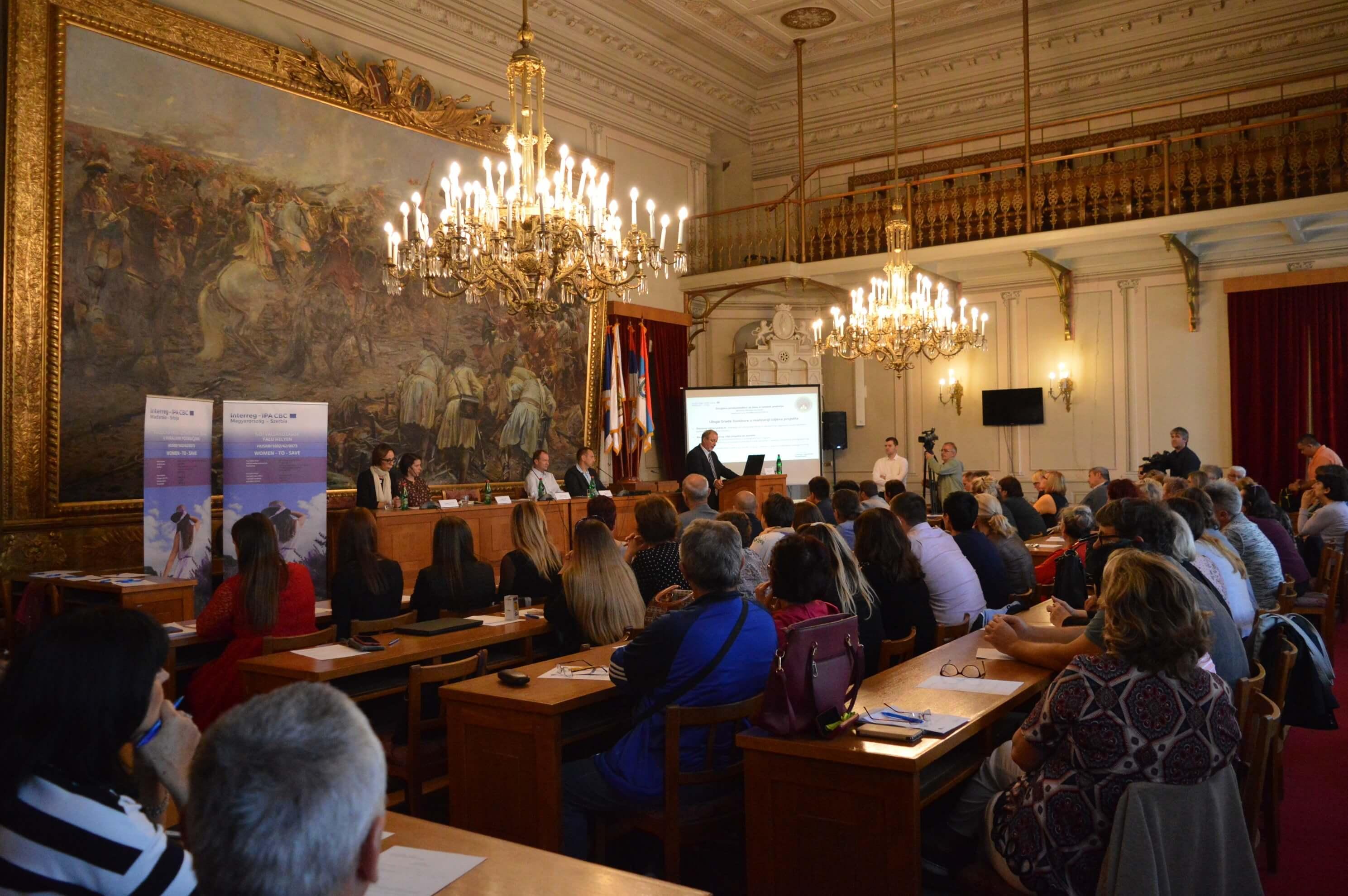На конференцији је говорила  председница Сталне конференције градова и општина и градоначелница Сомбора Душанка Голубовић