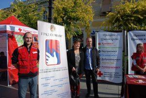 Predstavnici Crvenog krsta Sombor u član Gradskog veća dr Dalibor Forgić