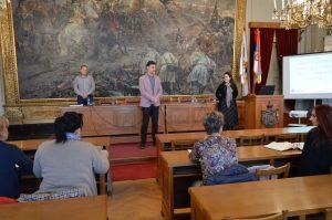 Učesnike današnjeg treninga pozdravio je u ime Grada Sombora Nemanja Sarač član gradskog veća zadužen za oblast kulture i obrazovanja
