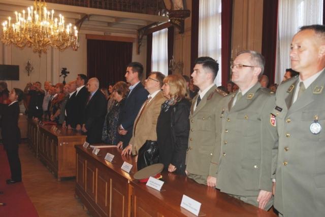 Свечана академија отпочела интонирањем химне Републике Србије