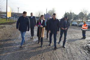 Градоначелница Сомбора Душанка Голубовић са сарадницима, дочекала Председника Покрајинске владе Игора Мировића у Стапару