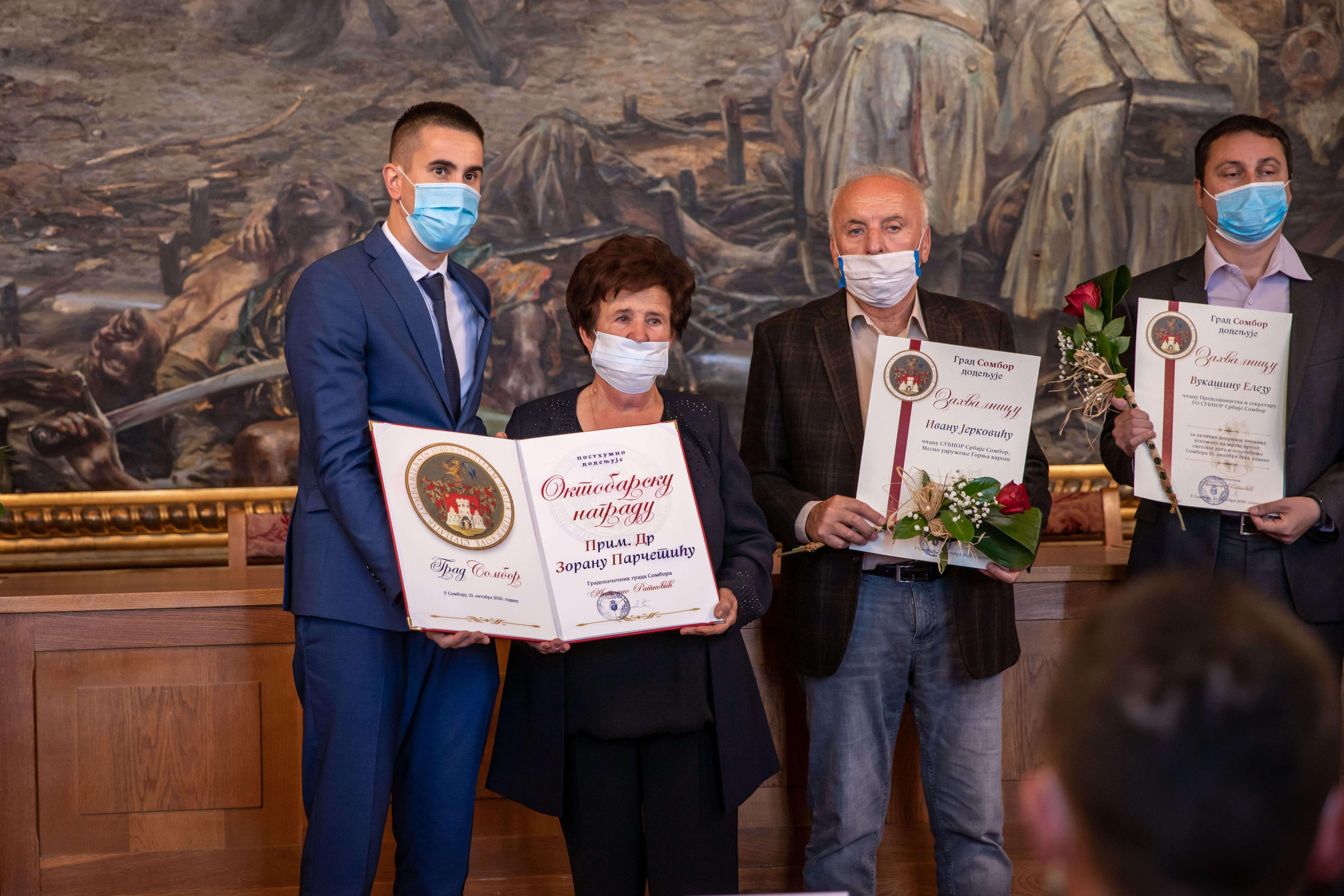 Октобарска награда постхумно додељена прим. др Зорану Парчетићу