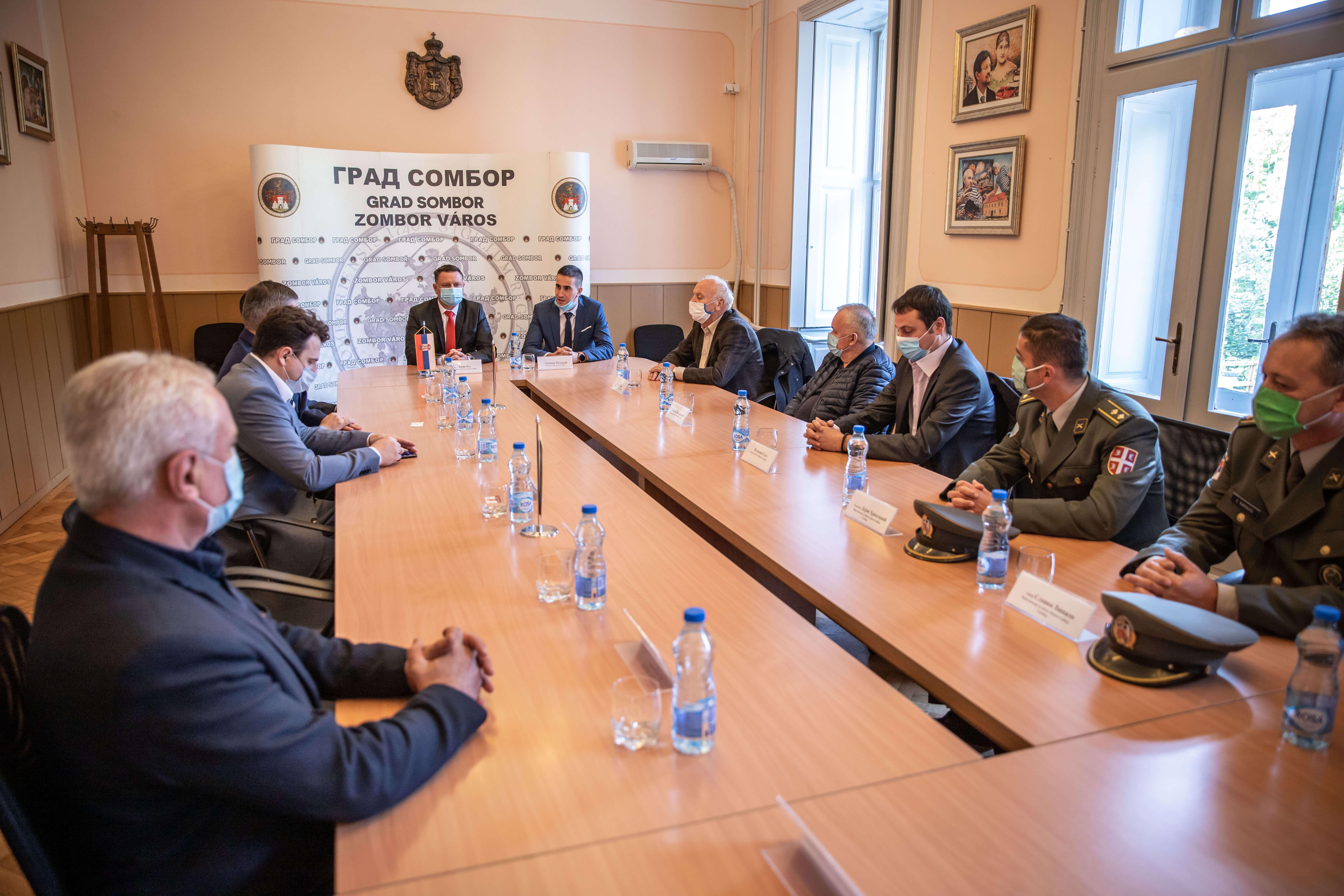 Пријем код председника Скупштине града Зорана Руса и градоначелника Антониа Ратковића