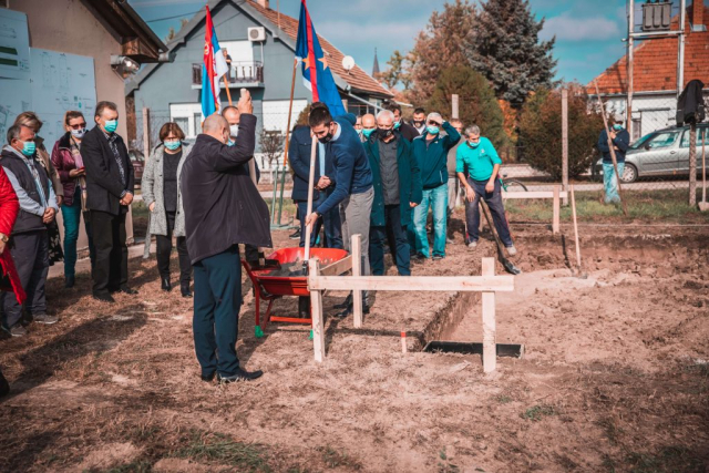 Полагање темеља за погон за прераду воде у Бачком Моноштору