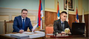 Председник Скупштине Зоран Рус и градоначелник Антонио Ратковић