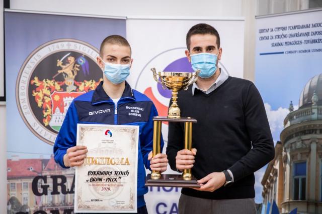 Вукашин Тепић и градоначелник Антонио Ратковић