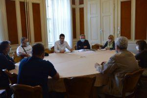 foto 1 - sastanak gradonačelnika sa sekretarima mesnih zajednica